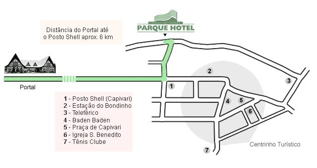 mapa parque hotel